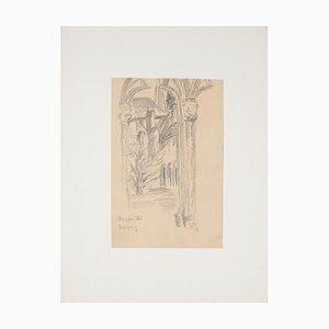Werner Epstein - Gate - Original Pencil on Paper by Werner Epstein - 1925