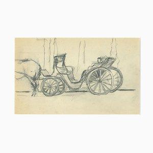 Herta Hausmann - The Chariot - Original Bleistiftzeichnung von Herta Hausmann - Mid-20th Century