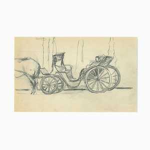 Herta Hausmann - The Chariot - Original Pencil Drawing by Herta Hausmann - Mid-20th Century