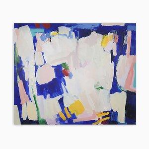 Arena y mar, pintura abstracta, 2020