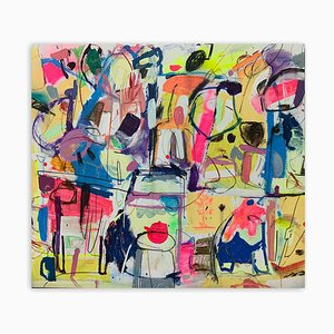 The One with Teapot, Abstract Painting, 2020