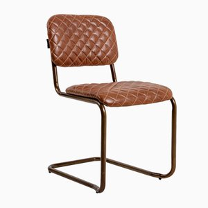 Avoca Brown Leather Dining Chair