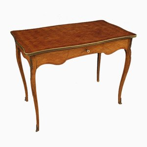 French Writing Desk Inlaid In Mahogany, Beech and Maple