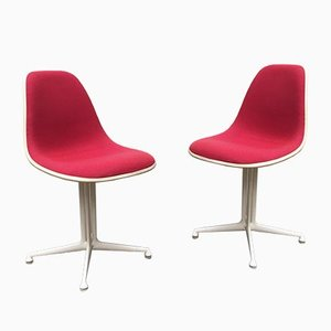 Mid-Century Fiberglass Side Chairs by Charles & Ray Eames for Herman Miller, Set of 2