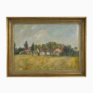 Farm Scene, 1954, Oil on Canvas