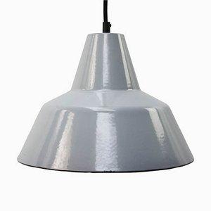 Lampada da soffitto Mid-Century industriale smaltata grigia di Philips