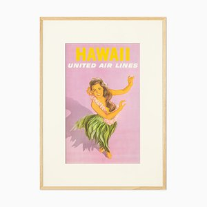 Hawaii United Airlines Promotional Poster, 1960
