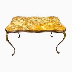 Vintage Bronze & Onyx Coffee Table
