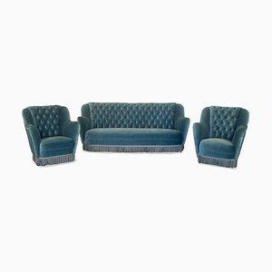 Sofa & Sessel von Gio Ponti, 1950er, 3er Set