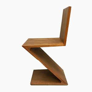 Zig Zag Dining Chair by Gerrit Rietveld for Cassina, 1974