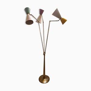 Modernistische Stehlampe von Oscar Torlasco für Lumi, 1954
