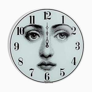 Face Glass Wall Clock by Lina Cavalieri for Fornasetti