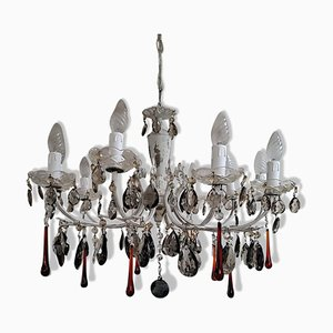 Amethyst and Red Murano 10-Light Chandelier