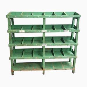 Industrial Green Shelf or Shoe Cabinet, 1960s
