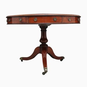 Early 19th-Century Mahogany Drum Table