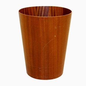 Swedish Rattan Paper Basket from Servex, 1960s