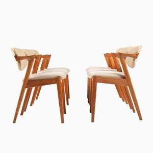 Teak Dining Chairs by Kai Kristiansen for Shou Andersen, Set of 6
