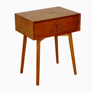 Teak and Beech Nightstand from Carlstöm Möbelfabrik, 1960s