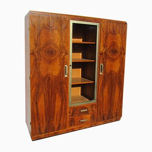 Art Deco Burl & Walnut Wardrobe, 1930s