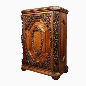 Renaissance Solid Oak Cabinet, 1850s