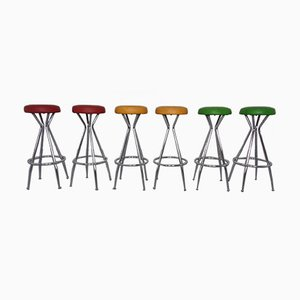 Vintage German Barstools, 1960s, Set of 6