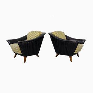 Große Cocktail Sessel, 1950er, 2er Set