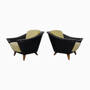 Large Cocktail Chairs, 1950s, Set of 2