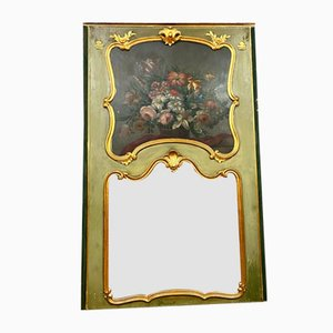 Louis XV Giltwood & Lacquered Mirror, 1850s