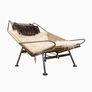 Model PP225 Halyard Boat Chaise Lounge by Hans J. Wegner for PP Møbler, 2006