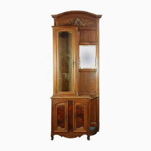 Napoleon III Walnut and Magnifying Glass Coat Flag-Locker with Door