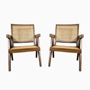 Lounge Chairs by Pierre Jeanneret, 1950s, Set of 2