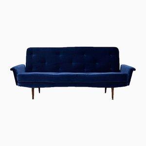 Vintage Velvet Sofa Bed, 1950s