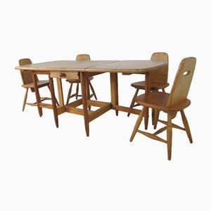Set da pranzo e tavolo di Eero Aarnio per Laukaan Puu, Scandinavia, anni '60, set di 5