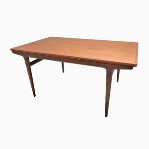 Mid-Century Scandinavian Teak Dining Table by Johannes Andersen for Uldum Møbelfabrik