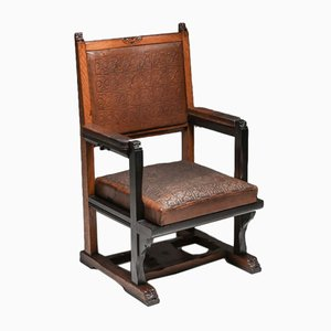 Dutch Art Nouveau Amsterdam School Armchair by Lion Cachet, 1920s