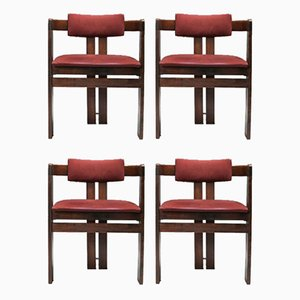 Pigreco Armchairs with Bentwood Frames by Tobia & Afra Scarpa, 1960s, Set of 4