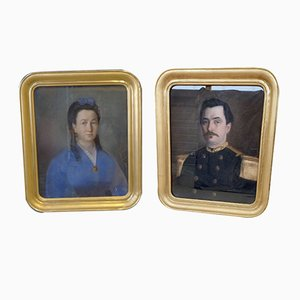 19th Century Pastels, Set of 2