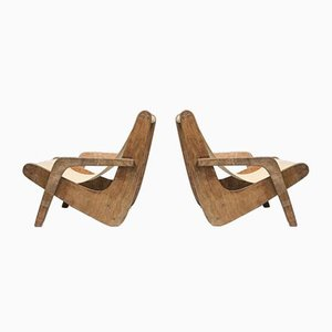 Boomerang Lounge Chairs by Zanine Caldas, 1950s, Set of 2