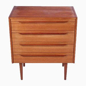 Vintage Scandinavian Teak Cabinet with 4 Drawers