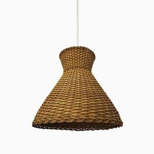 Wicker Pendant Lamp, 1960s