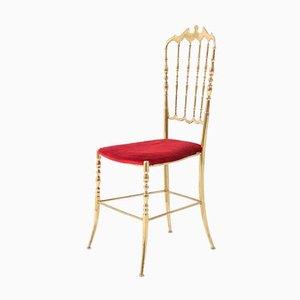 Mid-Century Italian Brass Modern Chair by Chiavari, 1960s