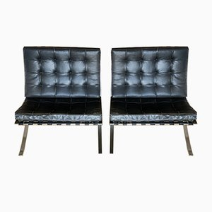 Barcelona Chairs by Ludwig Mies van der Rohe for Knoll Inc. / Knoll International, 1970s, Set of 2