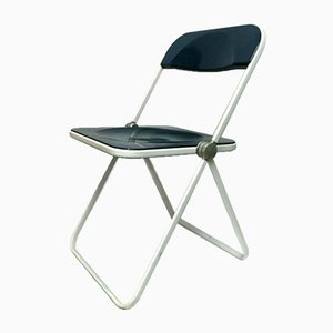 Blue Plia Folding Chair by Giancarlo Piretti for Castelli / Anonima Castelli, 1970s