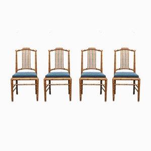 Italienische Mid-Century Esszimmerstühle von Giorgetti, 4er Set