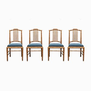 Mid-Century Italian Dining Chairs from Giorgetti, Set of 4
