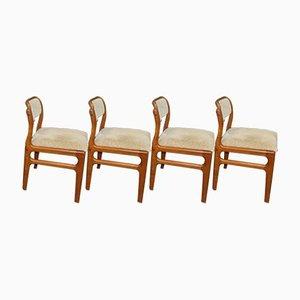 Mid-Century Esszimmerstühle von Johannes Andersen für Uldum Møbelfabrik, 4er Set