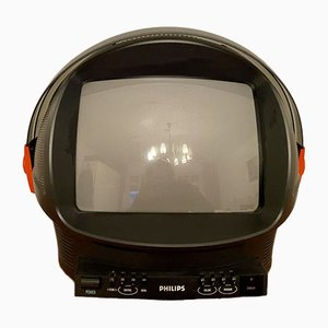 Discoverer TV in Helmet Shape with Visor from Phillips, 1980s