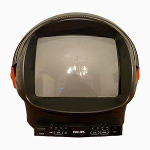 Televisión Discoverer en forma de casco con visera de Phillips, años 80