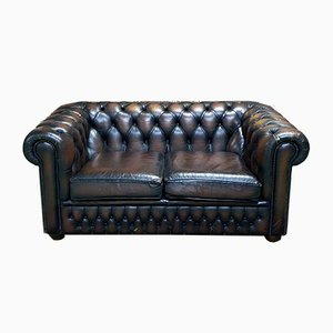 Vintage Chesterfield Brown Sofa