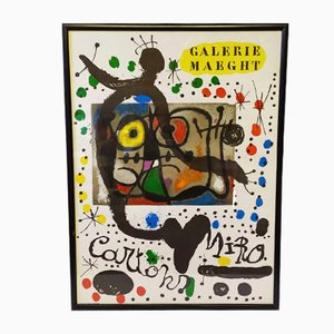 Cartons Litograph attributed to Joan Miró, 1965
